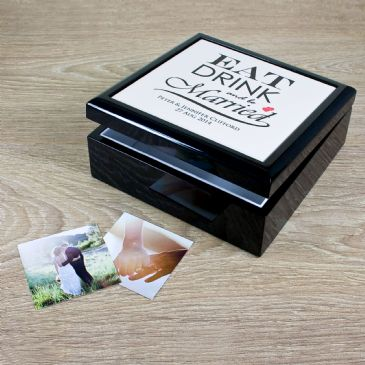 Eat, Drink and be Married Couple Keepsake Box